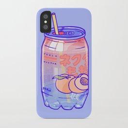 Peach Bubbles iPhone Case