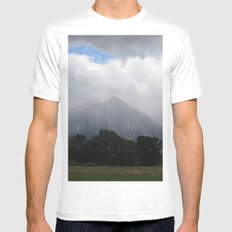 Stormy White MEDIUM Mens Fitted Tee