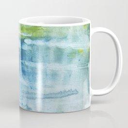 Blue green colored wash drawing Coffee Mug