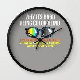 Color Blind Problems Blindness Test Eye Glasses Wall Clock