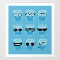 glasses Art Prints featuring Glasses by Zach Terrell
