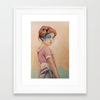 michael clifford Framed Art Prints featuring Within White by Michael Shapcott