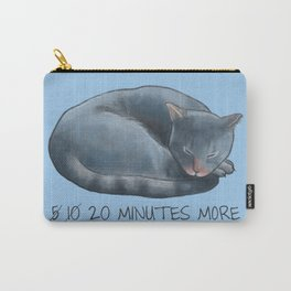 Sleepy Cat - 20 minutes more - Lazy Animals Carry-All Pouch