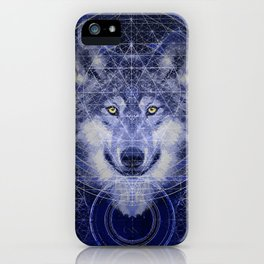 Wolf Geometry iPhone Case
