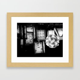 Grey Lanterns Framed Art Print