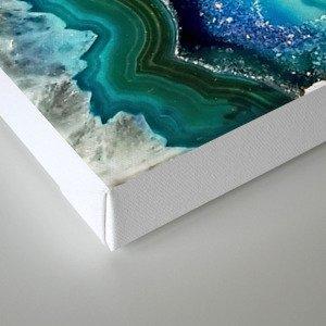 Aqua turquoise agate mineral gem stone - Beautiful Backdrop Canvas Print