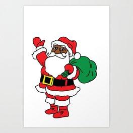 Black Santa Art Print