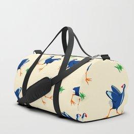 Pukeko swamp hen pattern Duffle Bag