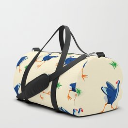 Pukeko swamp hen pattern Duffle Bag