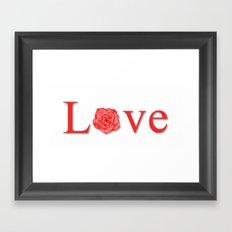 Love Flower Red Framed Art Print