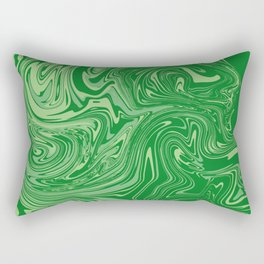 Green pastel abstract marble Rectangular Pillow