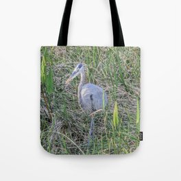 Hello Blue Heron Tote Bag
