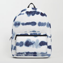 Navy Watercolour Stripes Backpack
