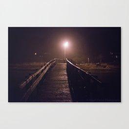 Foggy Footbridge Canvas Print