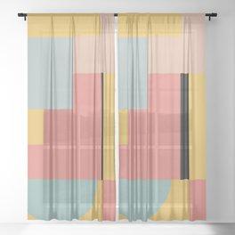 geometric abstract 27 Sheer Curtain