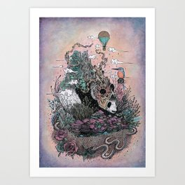 Land of the Sleeping Giant Art Print