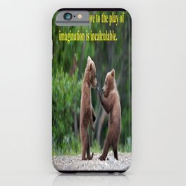 Baby Bears at Play iPhone Case
