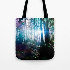Magical Path Forest Fireflies - Olympic National Park Hoh Rainforest Tote Bag