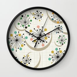 Mid Century Modern Starbursts 1a Wall Clock