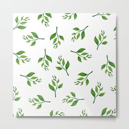 Tea Leaves Metal Print