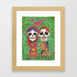 Te Amo Day of the Dead Framed Art Print