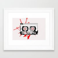 tape Framed Art Prints featuring tape by Sean McFadyen
