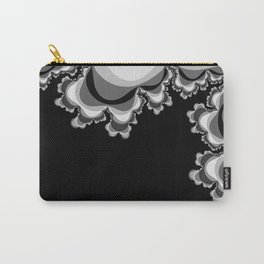 Black and Gray Ruffle Pattern Carry-All Pouch