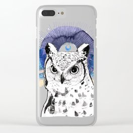 The Owl (Spirit Animal) Clear iPhone Case