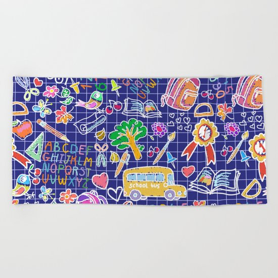 School teacher #7 Beach Towel