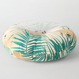 Beach Weekend #digitalart #nature Floor Pillow