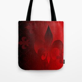 Fleur De Lis Red Holiday Pattern Tote Bag