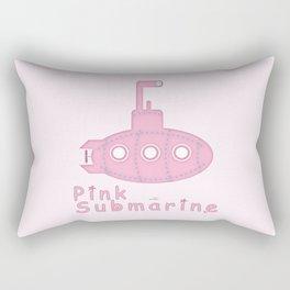 Pink submarine Rectangular Pillow