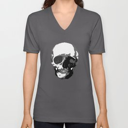 Skull Vector Art Unisex V-Neck