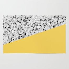 Granite and Primrose Yellow Color Rug