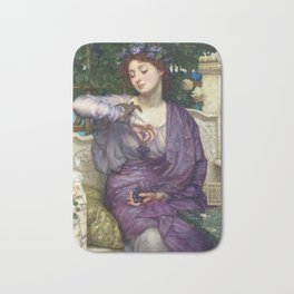Edward Poynter - Lesbia And Her Sparrow Bath Mat