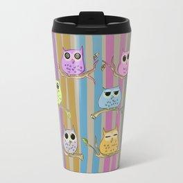 Little and cute owls Travel Mug