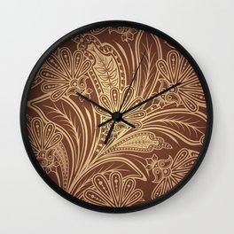 Brown pattern Wall Clock