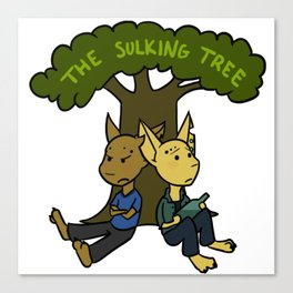 The Sulking Tree Canvas Print