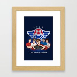 Liga virtual cubana Framed Art Print