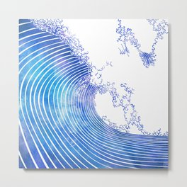 Pacific Waves III Metal Print