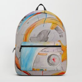 BB8 watercolor painting Backpack