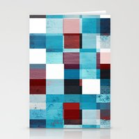 patriotic Stationery Cards featuring Patriotic Grid by plaidGecko