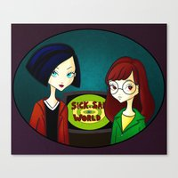 daria Canvas Prints featuring Daria by Paz Huichaman
