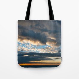 Vibrant Sunrise Cloudscape Tote Bag