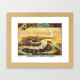 realistic production of ancient and modern Venice at Olympia Framed Art Print