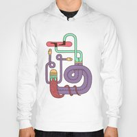 snowboarding Hoodies featuring Go Snowboarding by Alejandro Giraldo