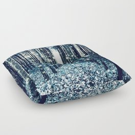Magical Forest Teal Gray Elegance Floor Pillow