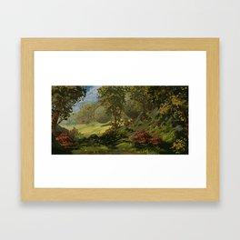 September Forest Framed Art Print