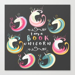 Book Unicorn Canvas Print