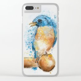 Expressive Bluebird Clear iPhone Case